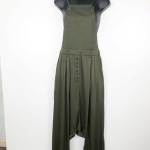 One Teaspoon Overalls Jumpsuit Olive Green Harem